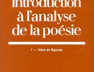 Introduction à l'analyse de la poésie 1982 1988